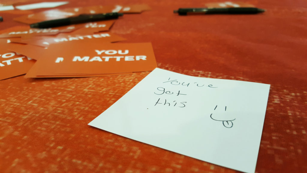 "Hand Written ""You Matter"" Note"