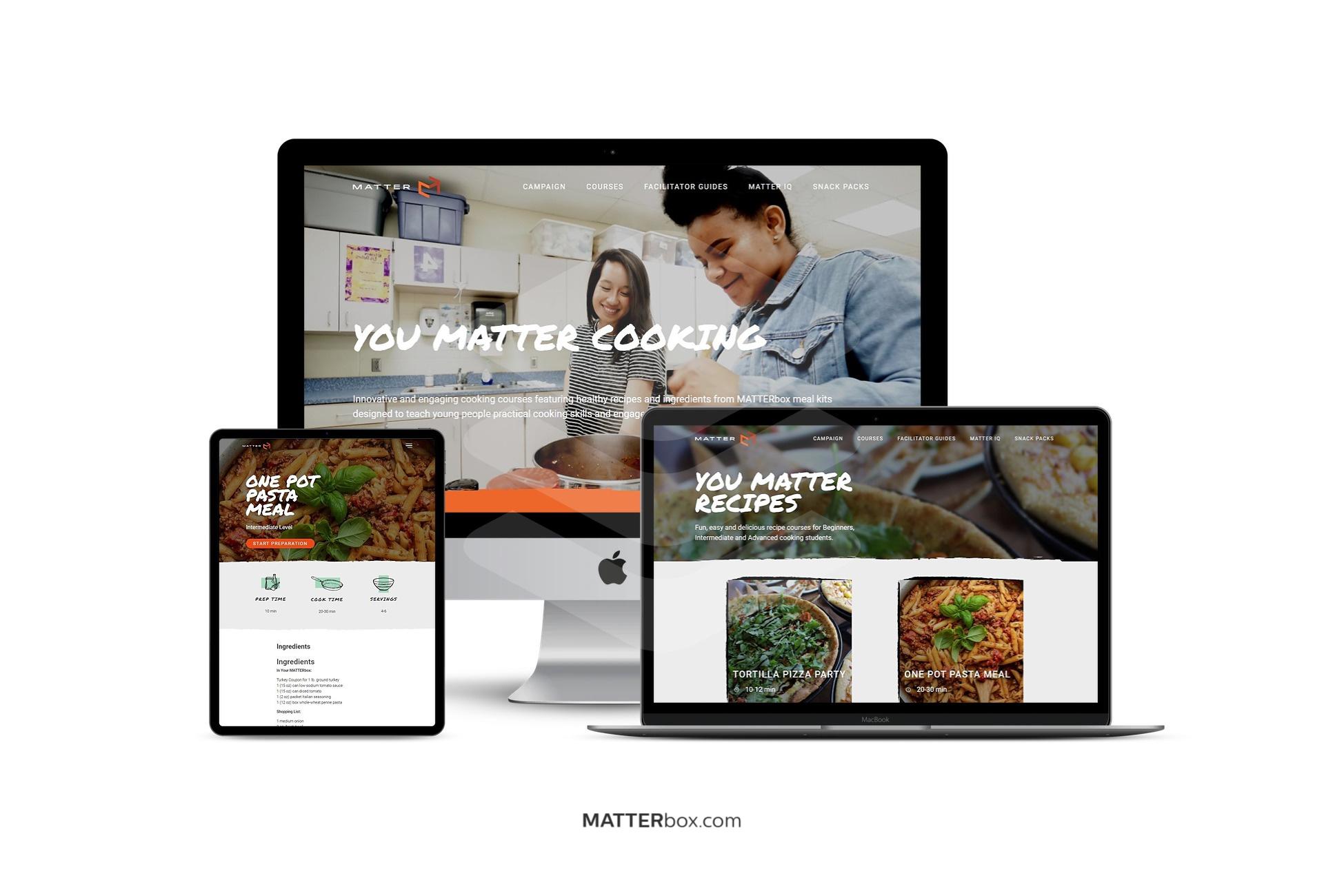YOU MATTER Cooking Website